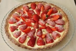fresas y azúcar