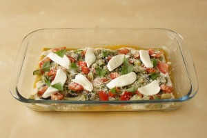 lasaña verduras y mozzarella